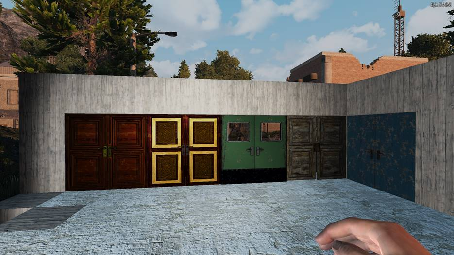 7 days to die double door mod, 7 days to die doors, 7 days to die jail door, 7 days to die building materials