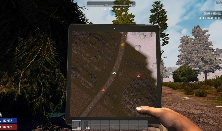 Military Tablet/Phone (Dynamic Minimap & See-Through Camera)