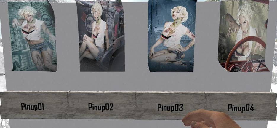 7 days to die zombie pin up posters, 7 days to die poster, 7 days to die building materials