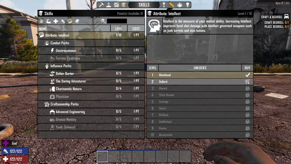 7 days to die better attributes intellect, 7 days to die experience, 7 days to die perks