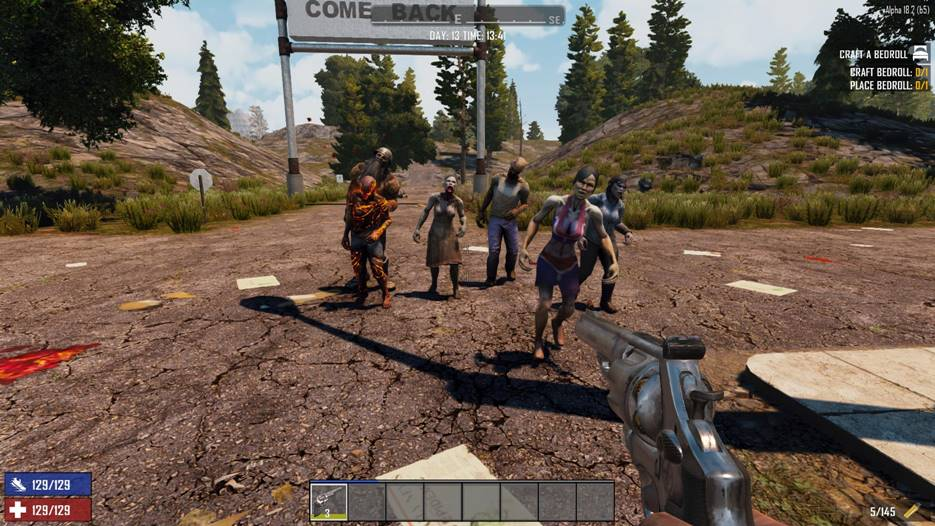 7 days to die change the walk type of zombies, 7 days to die zombies