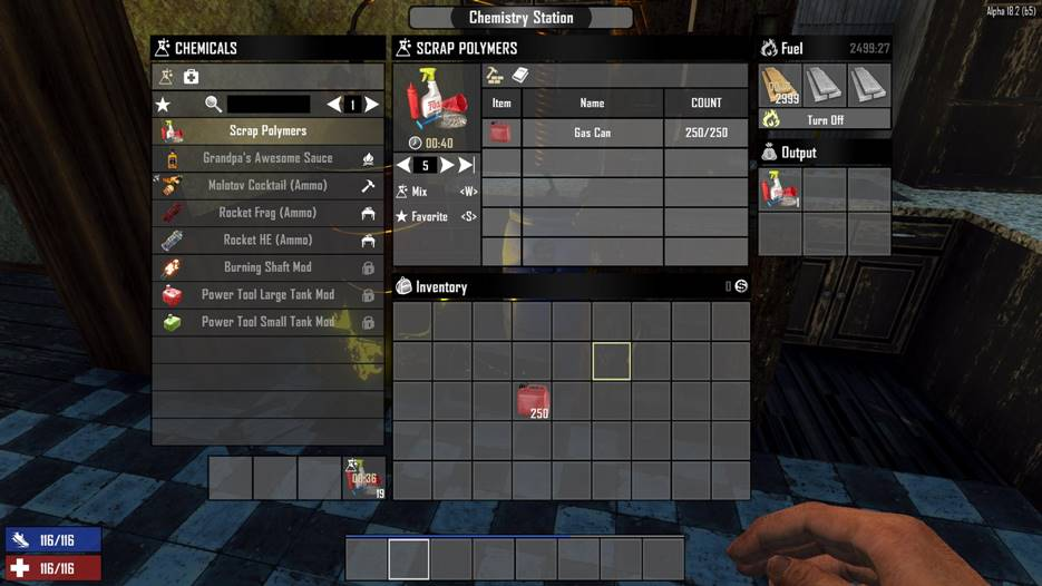 7 days to die craftable scrap polymers