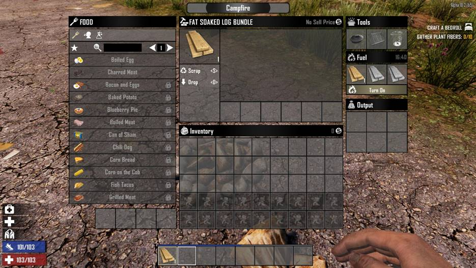 7 days to die fat soaked log bundle