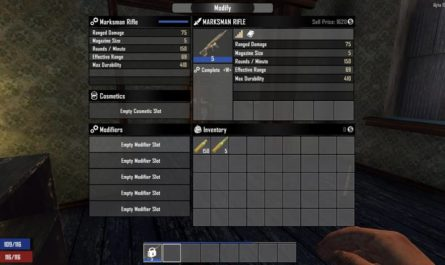 7 days to die mod slots equals item level, 7 days to die more slots, 7 days to die tools, 7 days to die weapons