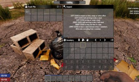 7 days to die ravenhearst style backpack stash all buttons, 7 days to die buttons, 7 days to die backpack