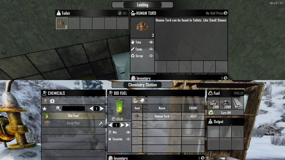 7 days to die revives biofuel and human turd, 7 days to die biofuel, 7 days to die human turd