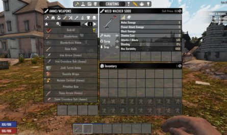 7 days to die weed wacker 5000, 7 days to die tools, 7 days to die farming