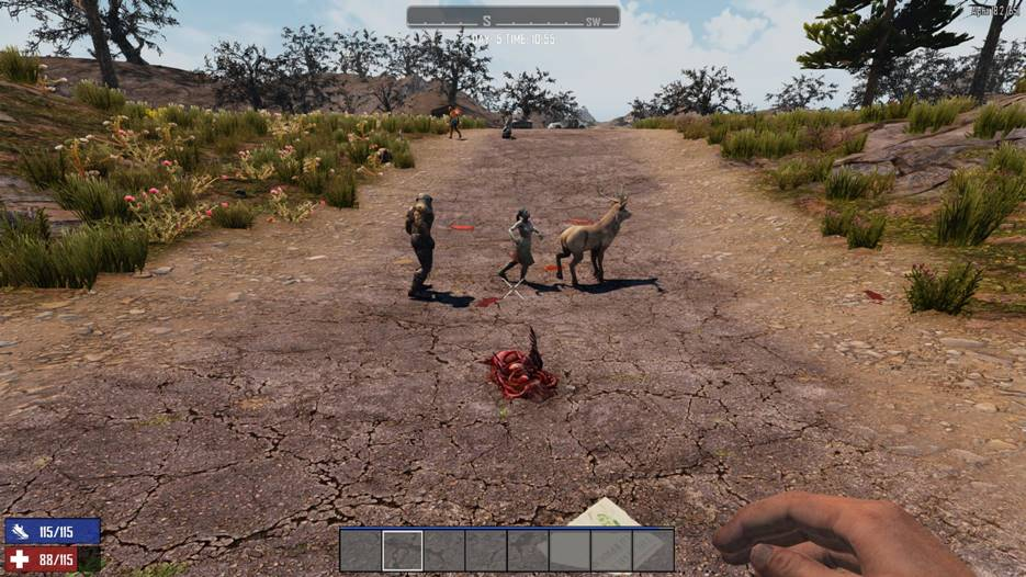 7 days to die zombies attack animals, 7 days to die zombies, 7 days to die animals
