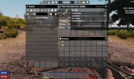 7 days to die arrow/crossbow bolt conversion, 7 days to die ammo, 7 days to die recipes