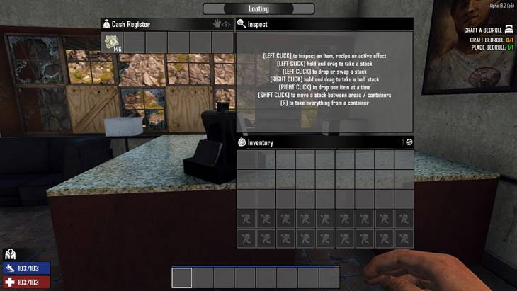 7 days to die cash only in registers