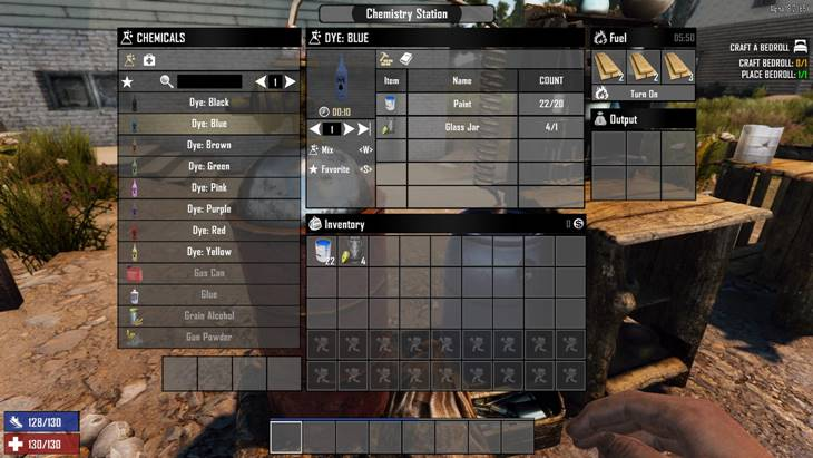 7 days to die craftable dyes, 7 days to die dye colors, 7 days to die dye mod