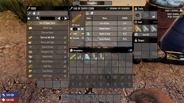 7 days to die craftable ear of super corn