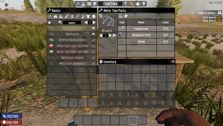 7 days to die craftable motor tool parts by nosoren, 7 days to die recipes, 7 days to die tools