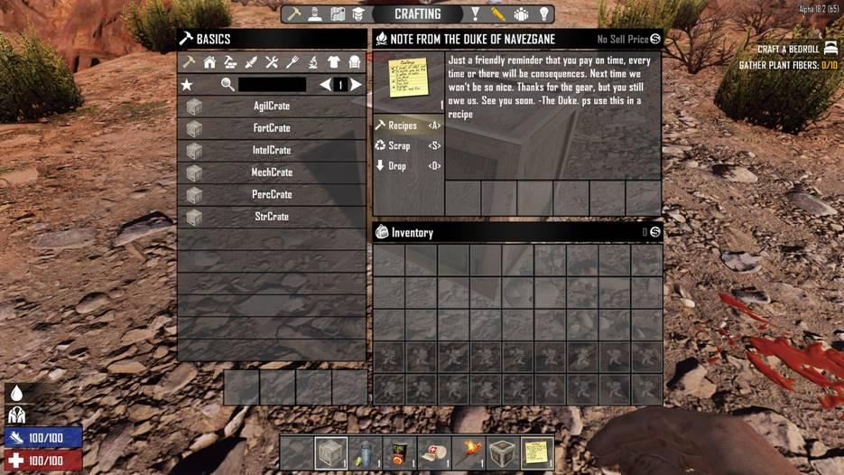 7 days to die starter kit, 7 days to die starting items, 7 days to die loot