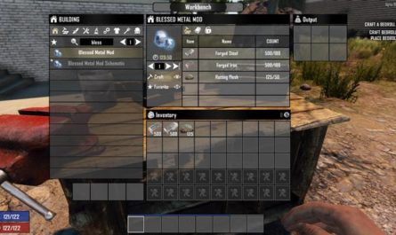 7dtd blessed metal mod, 7 days to die weapons