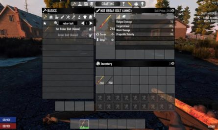 7dtd rebar crossbow bolts, 7 days to die ammo
