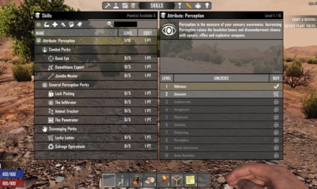 7dtd reset skills on death, 7 days to die perks, 7 days to die books