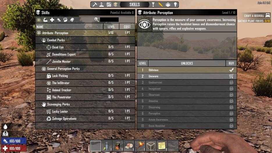 7 days to die reset skills on death, 7 days to die skill points, 7 days to die books