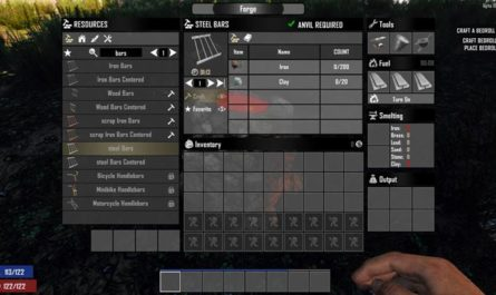7dtd scrap iron and steel bars, 7 days to die building materials