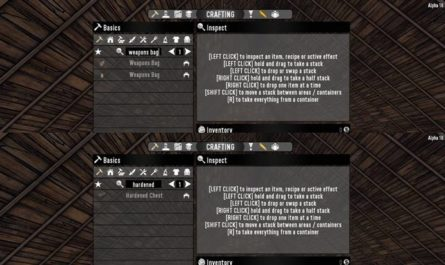 7dtd craftable weapons bags & hardened chests, 7 days to die weapons, 7 days to die building materials