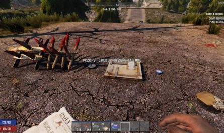 7dtd pick up traps and mines, 7 days to die spikes, 7 days to die traps