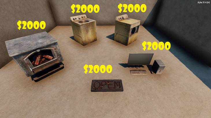 7 days to die expanded trader mod, 7 days to die trader, 7 days to die building materials