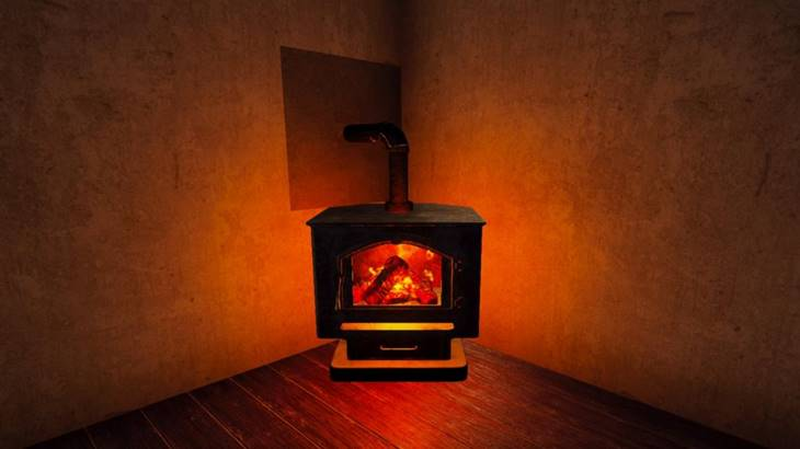 Working Wood Burning Stove