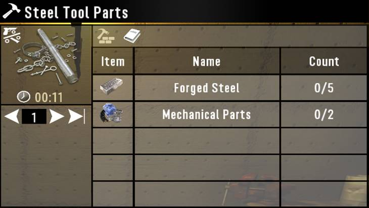 7 days to die craftable steel tool parts, 7 days to die tools