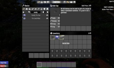 7 days to die 19 hubcab tins and filters revert