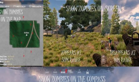 7 days to die ZQLaNavObjectsZombie - adds zombies to world, map, compass, 7 days to die zombies, 7 days to die maps