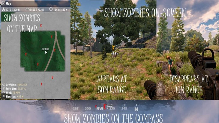 ZQLaNavObjectsZombie – Adds Zombies to World, Map, Compass