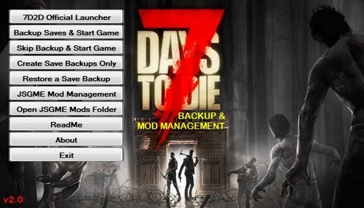 7 Days to Die Backup and Mod Manager v2.0