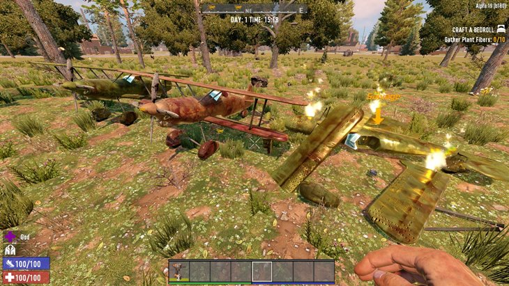 7 days to die biplane and helicopter, 7 days to die plane, 7 days to die helicopter mod, 7 days to die vehicles