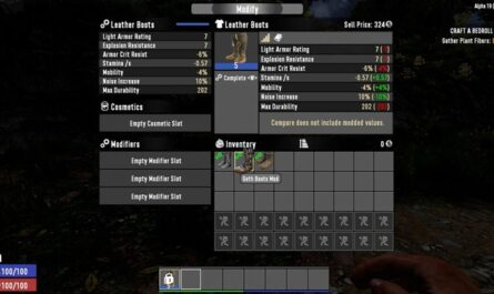 7 days to die boots mod, 7 days to die clothing