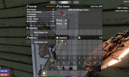 7 days to die door smasher mod, 7 days to die doors, 7 days to die tools
