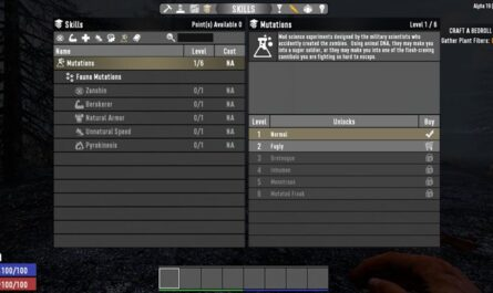 7 days to die mutations, 7 days to die perks, 7 days to die quests