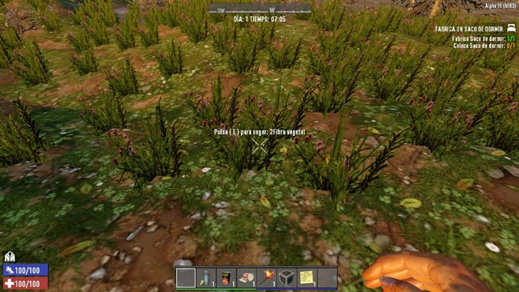 7 days to die pick up grass and more
