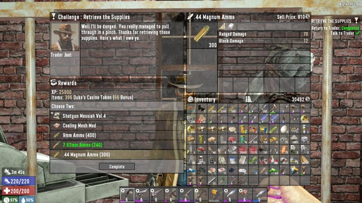 Quest Reward Ammo Increase