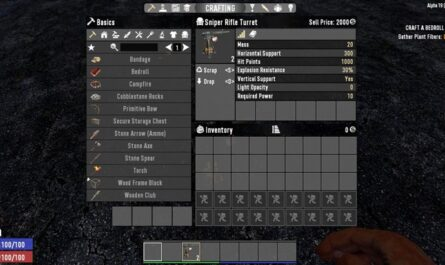7 days to die sniper turret, 7 days to die weapons, 7 days to die ammo, 7 days to die traps, 7 days to die electricity