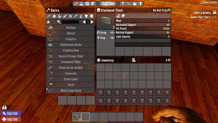 7 days to die steelwood chest, 7 days to die storage