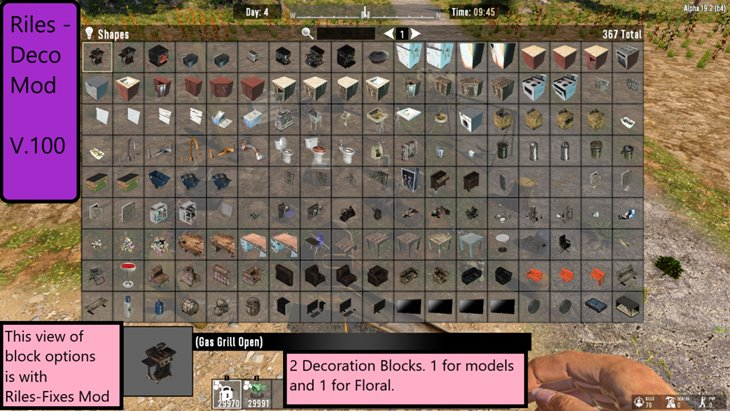 7 days to die riles deco blocks additional screenshot