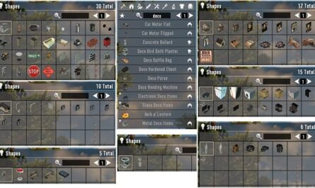 7 days to die sam's deco stuff, 7 days to die building materials