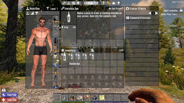 7 days to die invisible dye, 7 days to die clothing, 7 days to die armor mods