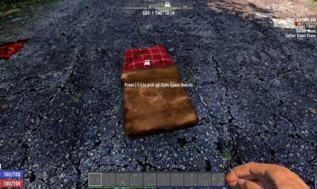 7 days to die safe space bedroll mod