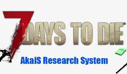 7 days to die akais research system mod, 7 days to die skill points, 7 days to die perks, 7 days to die books
