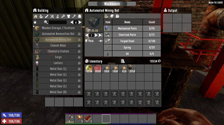 7 days to die AutoBots - automated mining and ammunition bots (revisited) additional screenshot 1