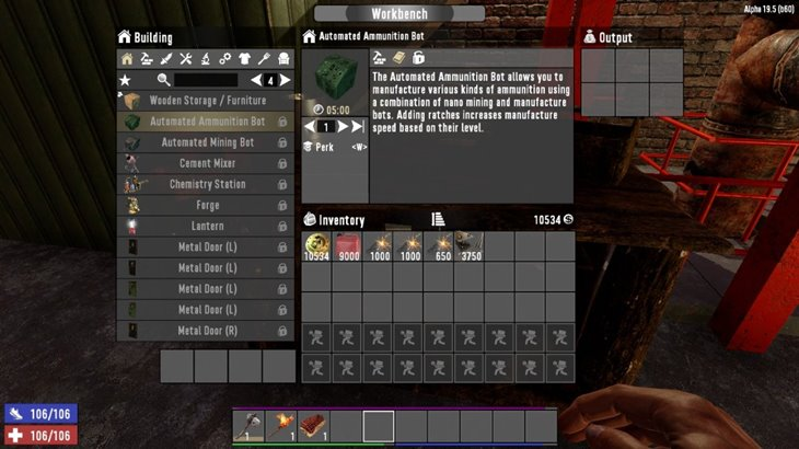 7 days to die AutoBots - automated mining and ammunition bots (revisited) additional screenshot 2