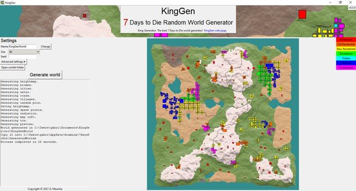 7 days to die KingGen, 7 days to die biomes, 7 days to die maps