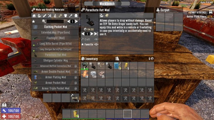 7 days to die parachute hat mod and drone hat mod additional screenshot 2