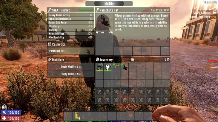 7 days to die parachute hat mod and drone hat mod additional screenshot 3